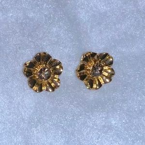 Kate Spade gold flower stud earrings